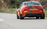 Jaguar XE SV Project 8 2018 road test review rear end