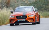 Jaguar XE SV Project 8 2018 road test review front end