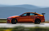 Jaguar XE SV Project 8 2018 road test review side speed