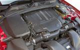 Jaguar XFR supercharged V8 engine