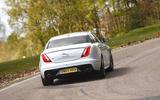 Jaguar XJ rear cornering