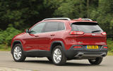 Jeep Cherokee rear cornering