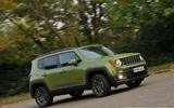 Jeep Renegade cornering