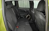 Jeep Renegade rear seats