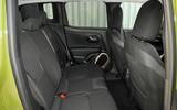 Jeep Renegade rear seats