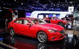 Facelifted Mazda 6 on display in LA