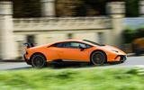 Lamborghini Huracán Performante on the road