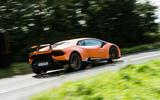 Lamborghini Huracán Performante rear cornering