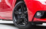 Lexus IS black alloy wheels