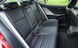 Lexus IS rear seats
