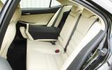 Lexus IS rear seats