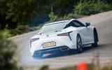 Lexus LC500 rear drifting