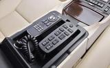 Lexus LS rear infotainment controls