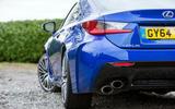 Lexus RC F quad exhaust