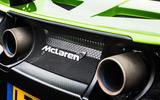 McLaren 675 LT twin exhaust
