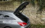 The rear of the CLA Shooting Brake gives the Mercedes' its distinctive profile