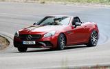 Mercedes-AMG SLC 43 drifting