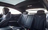 Mercedes-AMG S 63 Coupé rear seats