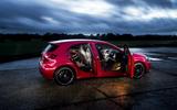 Mercedes-Benz A-Class doors open