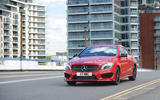 Mercedes-Benz CLA cornering