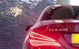 Mercedes-Benz CLA rear lights