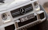 The front end of the Mercedes-AMG G 63 6x6 looks like the standard car