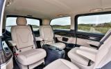 Mercedes V250 BlueTec rear seating