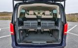 Mercedes V250 BlueTec boot space