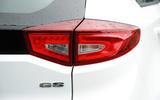 MG GS rear lights