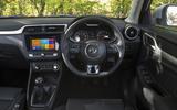 MG ZS dashboard