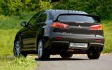 Mitsubishi Evo X rear cornering