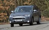 Mitsubishi Outlander cornering