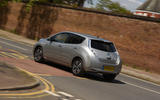 Nissan Leaf rear cornering