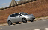 Nissan Leaf cornering