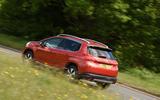 Peugeot 2008 rear cornering