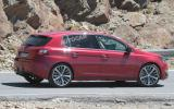 More powerful Peugeot 308 hatchback spied