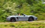 Porsche 718 Boxster side profile