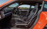 Porsche 718 Cayman front seats