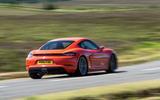 Porsche 718 Cayman rear cornering