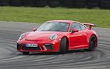 Porsche 911 GT3 hard cornering