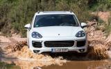 2014 Porsche Cayenne S diesel wading in the water