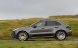 Porsche Macan Turbo on the road