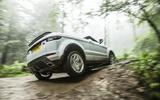 Range Rover Evoque Convertible axle articulation