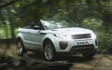 Range Rover Evoque Convertible off-roading