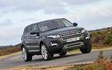 Range Rover Evoque cornering