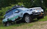 Range Rover Hybrid off-roading