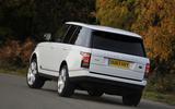 Range Rover rear cornering
