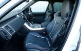 A look inside the Range Rover Sports SVR's cabin