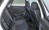Renault Captur rear seats
