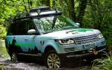 Range Rover Hybrid cornering